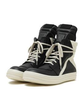 Geobasket geometric tongue high top sneakers