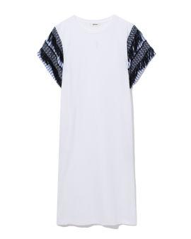 Panelled tassel dress