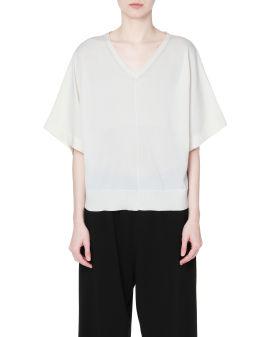 Knitted V-neck top