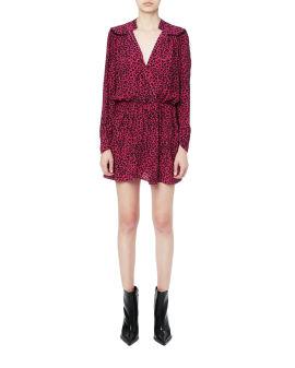 Revel leopard print dress
