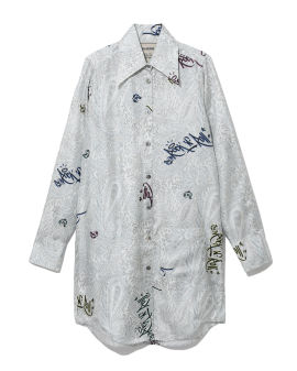 Rais soie paisley jormi shirt dress